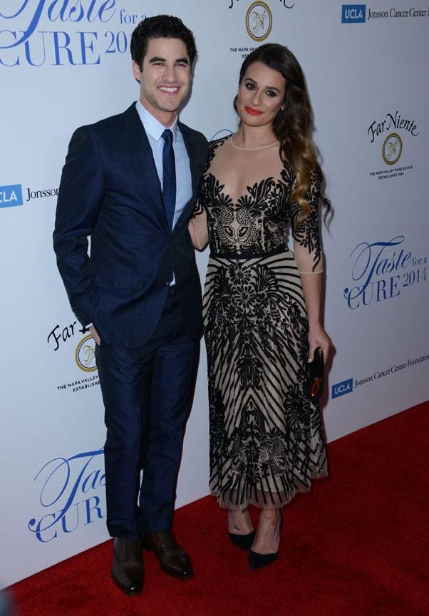 Darren Criss et Lea Michele à Beverly Hills le 25 avril 2014