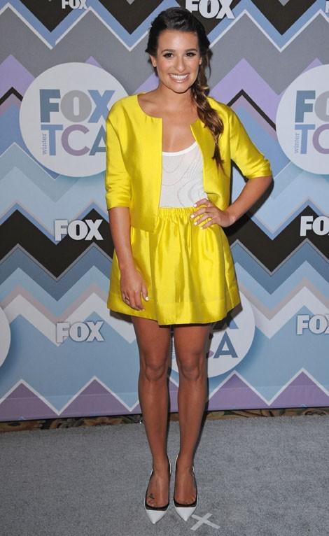 Lea Michele à la FOX Winter TCA All-Star Party à Pasadena le 8 janvier 2013