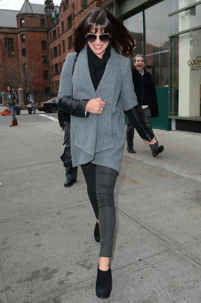 Lea Michele avec Cory Monteith à New-York le 6 mars 2013