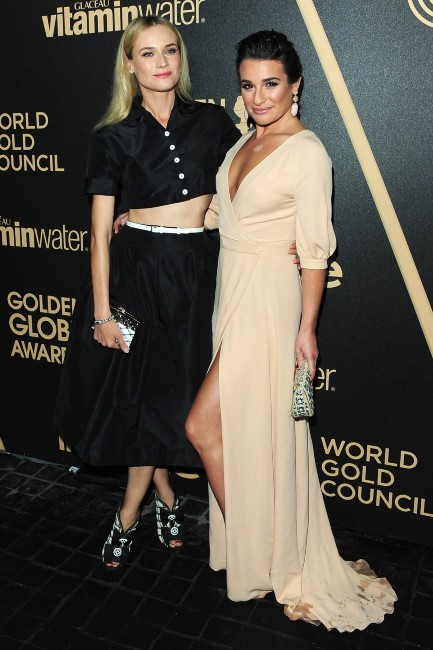 Diane Kruger et Lea Michele lors de la soirée Miss Golden Globe 2013 à West Hollywood, le 29 novembre 2012.