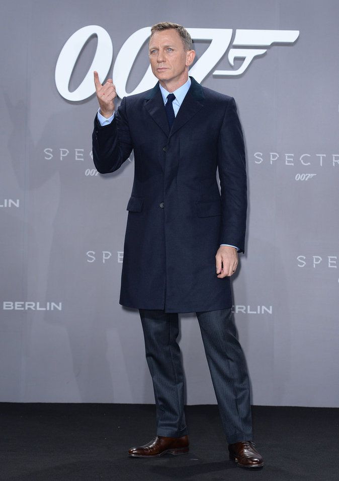 Daniel Craig à Berlin le 28 octobre 2015