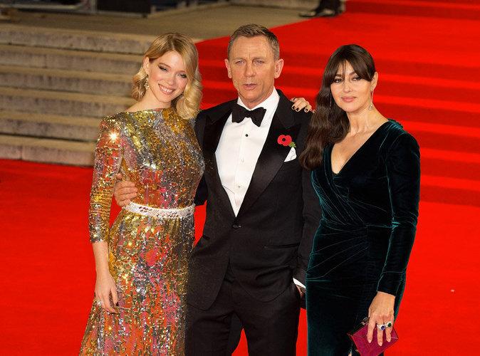 Photos : Léa Seydoux, Monica Bellucci, Daniel Craig : trio ultra glamour pour la première de Spectre !