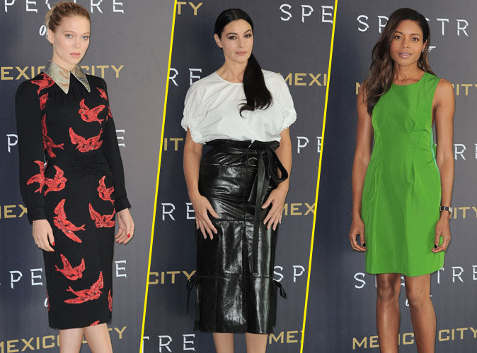 L�a Seydoux, Monica Bellucci, Naomie Harris : des James Bond Girls radieuses � Mexico !