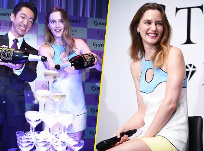 Leighton Meester : elle ne dit jamais non au champagne, même en pleine promotion !