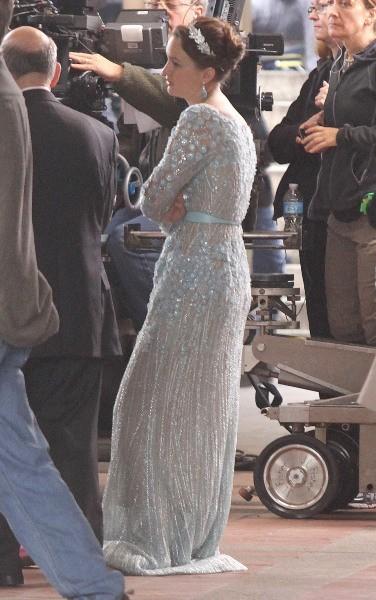 Leighton Meester sur le tournage de Gossip Girl à New York, le 15 octobre 2012.