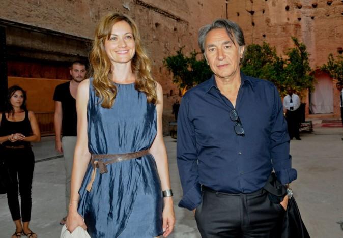Richard Berry et sa compagne Pascale lors du Festival Marrakech du rire, à Marrakech le 11 juin 2011.