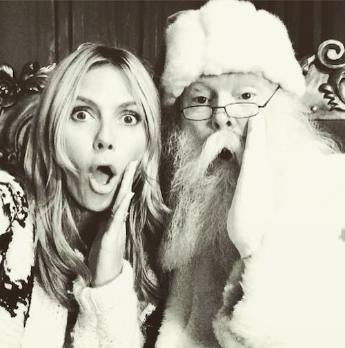 Heidi Klum a rencontré le Père Noël !