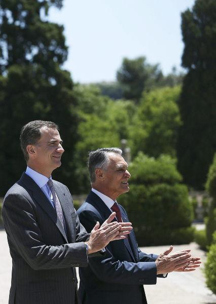 Felipe VI lors de son déplacement au Portugal, le 7 juillet 2014
