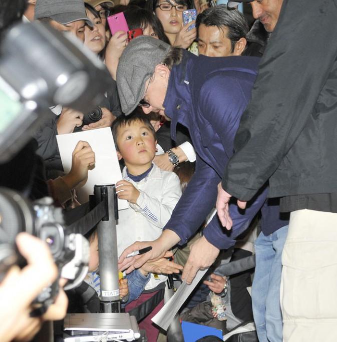 Leonardo DiCaprio à Tokyo le 27 janvier 2014