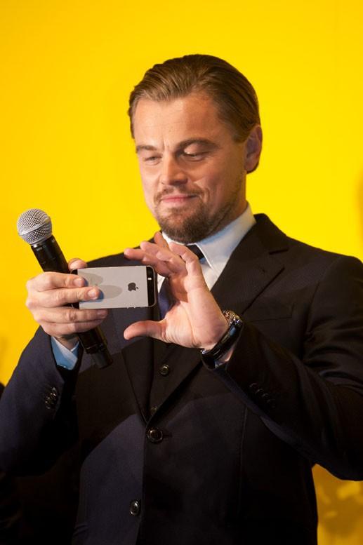 Leonardo DiCaprio à Tokyo le 28 janvier 2014 pour l'avant-première du Loup de Wall Street