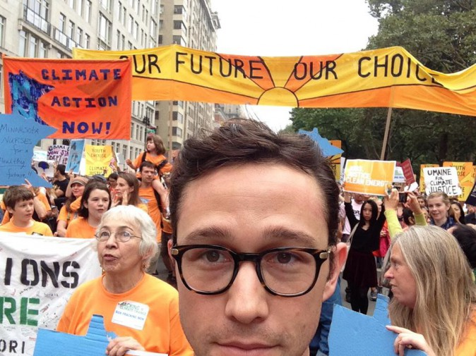 Joseph Gordon-Levitt à New York le 21 septembre 2014
