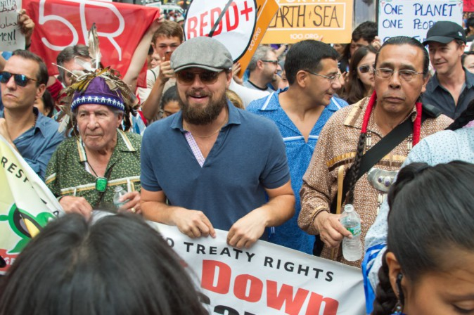 Léonardo Dicaprio à New York le 21 septembre 2014