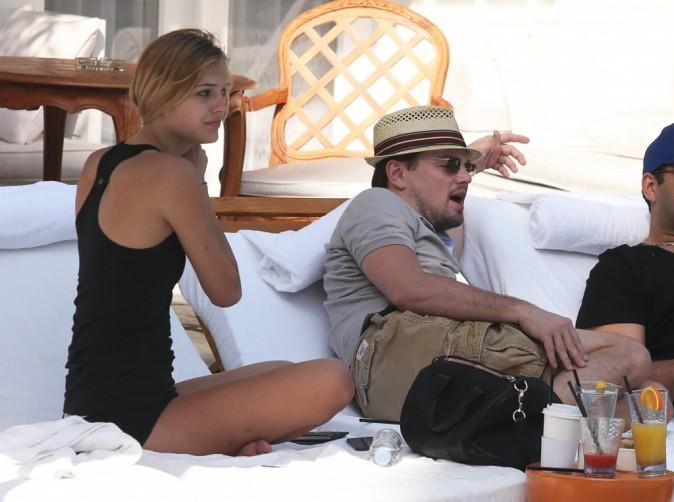 Leonardo DiCaprio et Margot Robbie à Miami, le 22 janvier 2013.