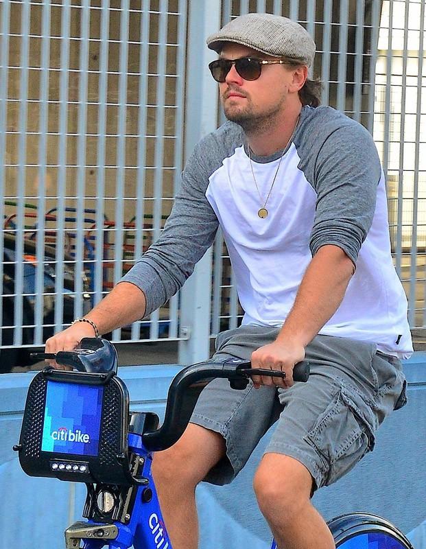 Leonardo DiCaprio en balade à vélo à New York