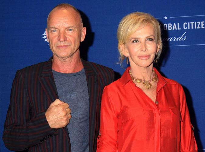 Sting et Trudie Styler à New York le 21 septembre 2014