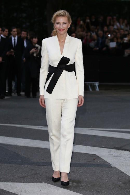Cate Blanchett aux 40 ans de la marque Armani, à Milan le 30 avril 2015