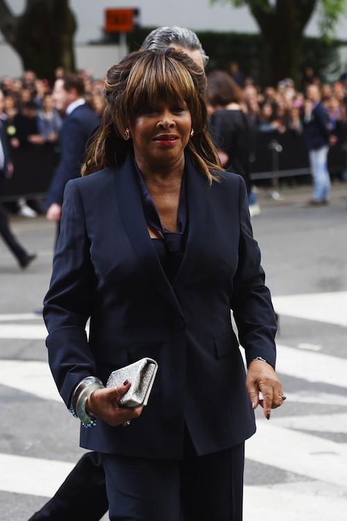 Tina Turner aux 40 ans de la marque Armani, à Milan le 30 avril 2015