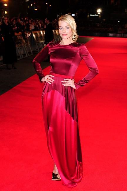 """Margot Robbie lors de la première du film """"Le Loup de Wall Street"""" à Londres, le 9 janvier 2014."""