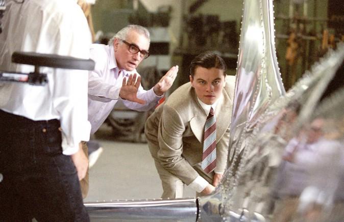 Leonardo DiCaprio et Martin Scorsese sur le tournage d'Aviator