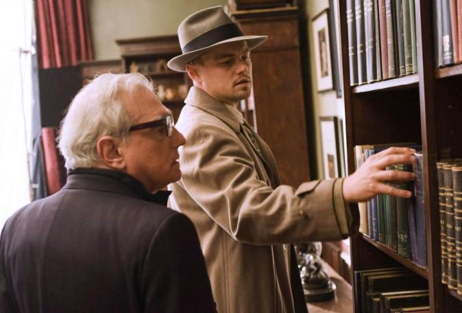 Leonardo DiCaprio et Martin Scorsese sur le tournage de Shutter Island