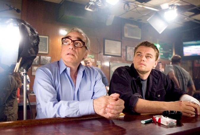 Leonardo DiCaprio et Martin Scorsese sur le tournage des Infiltrés