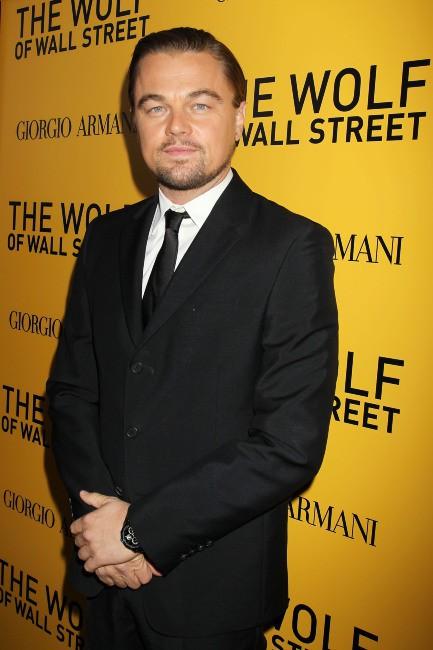 """Leonardo DiCaprio lors de la première du film """"Le loup de Wall Street"""" à New York, le 17 décembre 2013."""