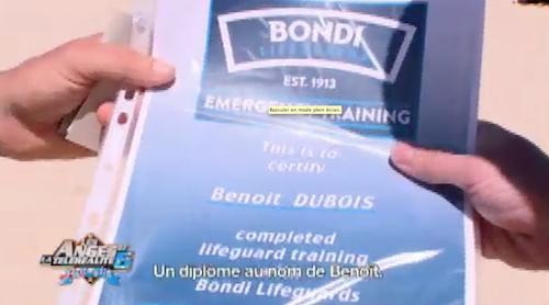 Benoît obtient son diplôme de secourisme !