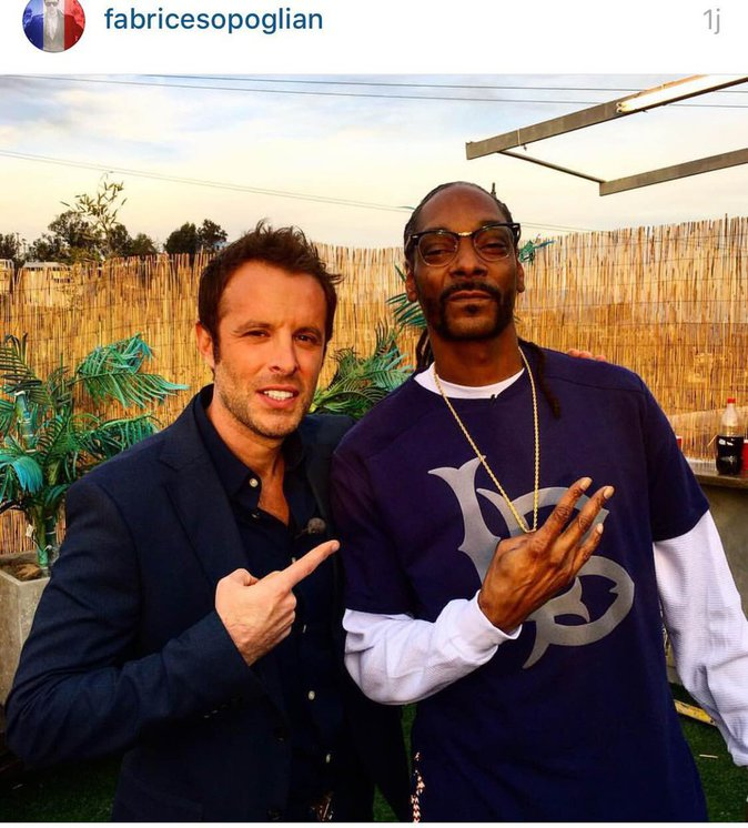 Snoop Dog et Fabrice Sopoglian