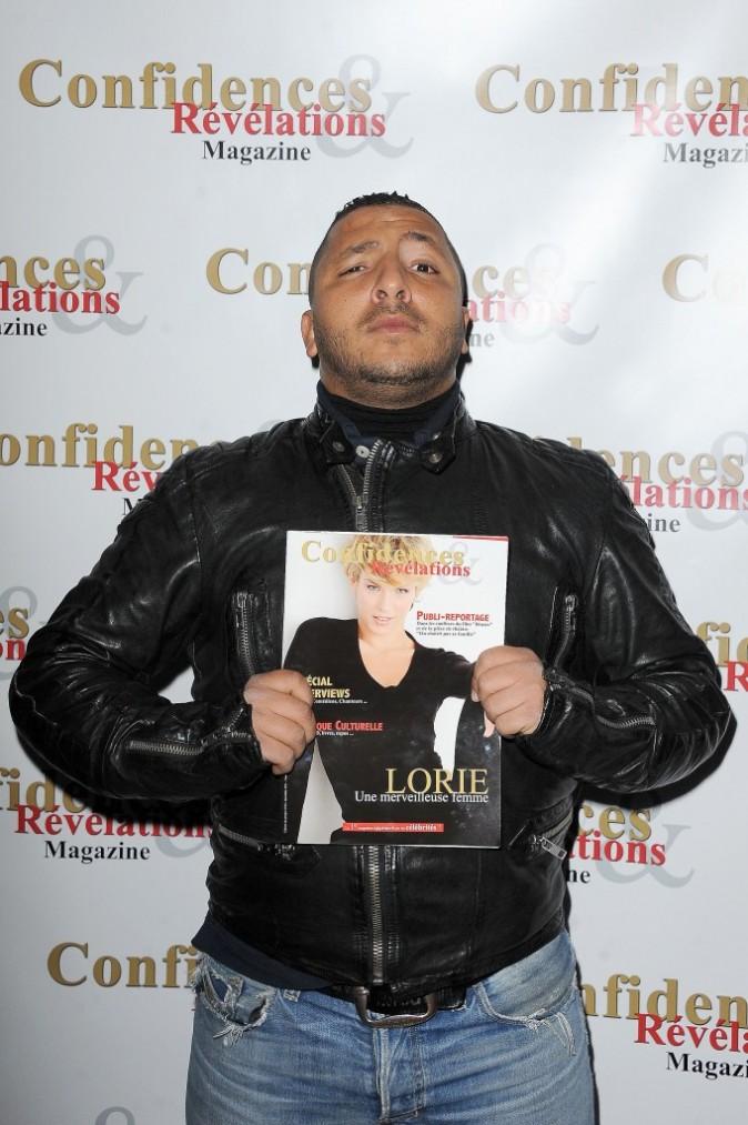 Kamel lors de la soirée de lancement du magazine Confidences et Révélations à Paris, le 29 décembre 2011.