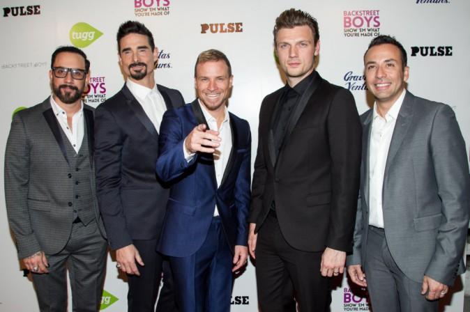 AJ McLean, Kevin Richardson, Brian Littrell, Nick Carter et Howie Dorough le 29 janvier 2015