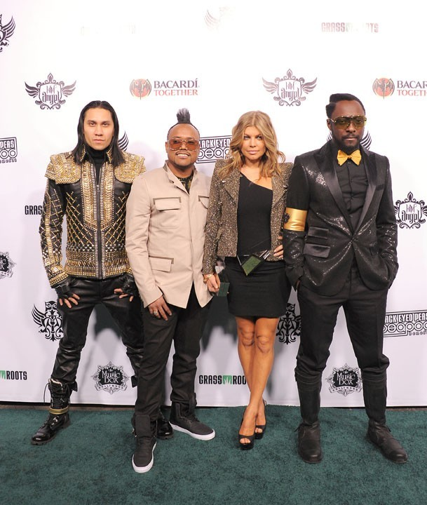 Les Black Eyed Peas lors du Peapod Benefit Concert au Music Box à Hollywood, le 10 février 2011.