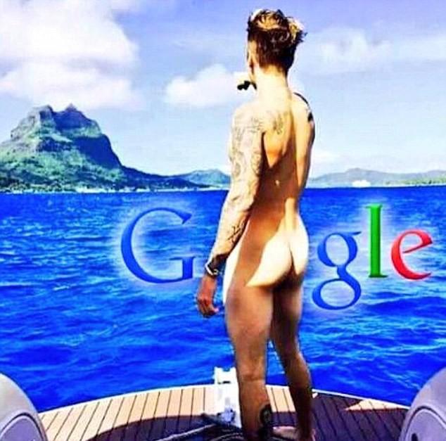 Justin Bieber nouveau logo Google