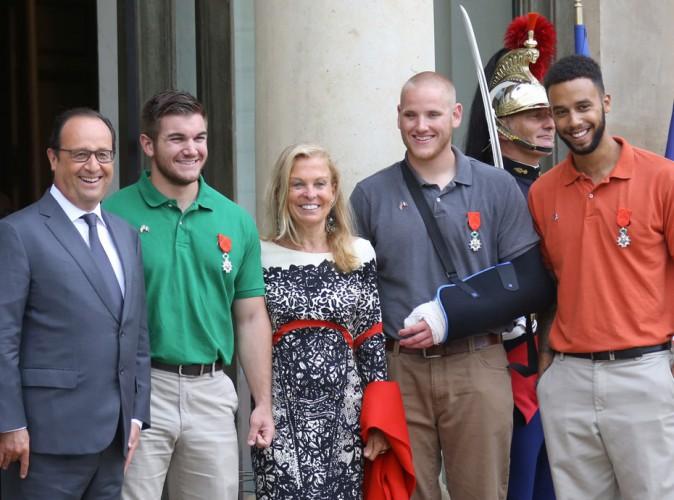 Photos : les héros du Thalys honorés de la Légion d'honneur par François Hollande !