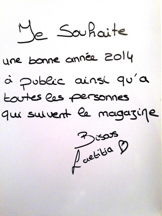 Samir Benzema et Laetitia souhaitent une bonne année 2014 à Public !