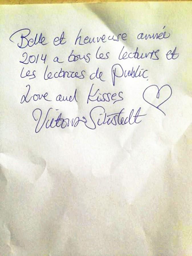 Victoria Silvstedt souhaite une bonne année 2014 à Public !