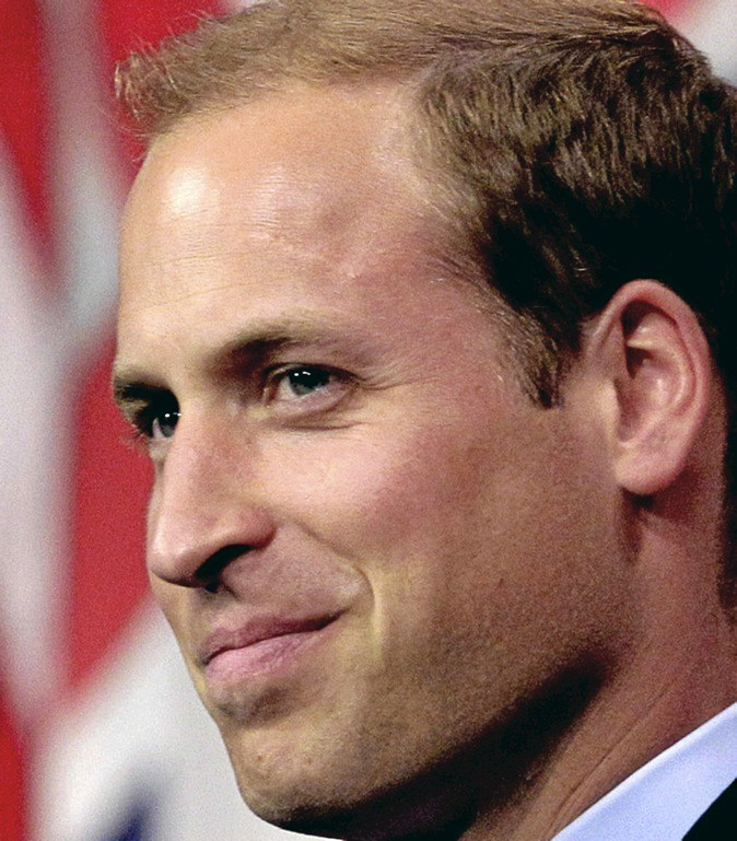 Le front marqué du prince William