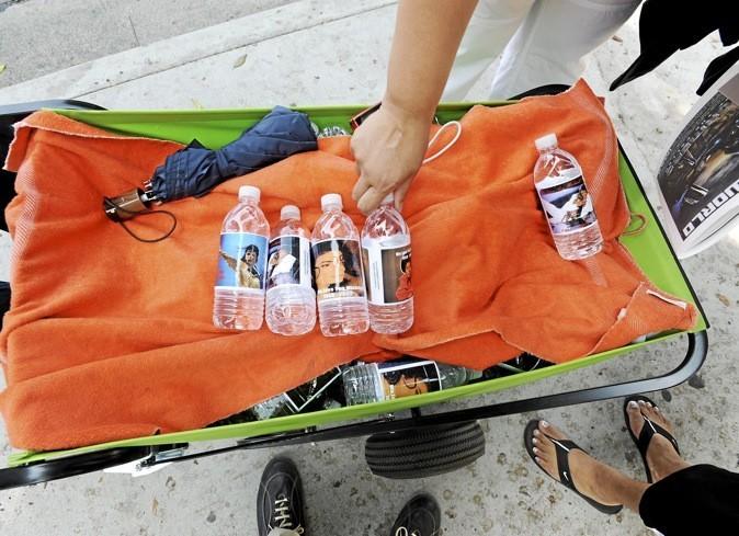 Les bouteilles d'eau Michael Jackson