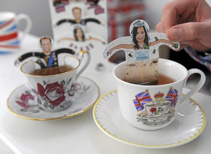 Les sachets de thé Kate Middleton et le prince William