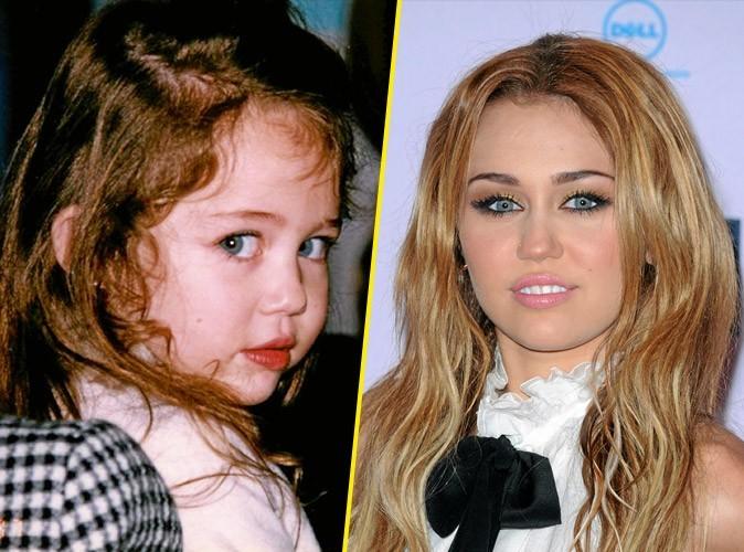 Photos stars bébé : de beaux yeux bleus pour Miley Cyrus !