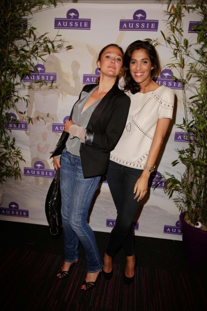 Sandrine Quétier et Laurie Cholewa à la Aussie Party à Paris, le 4 juin 2014