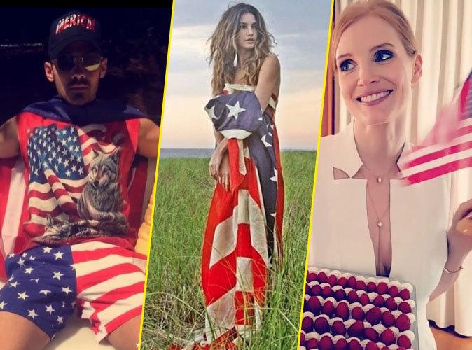 Ludacris, Lily Aldridge, Jessica Chastain...les stars se la jouent patriotes et fêtent le