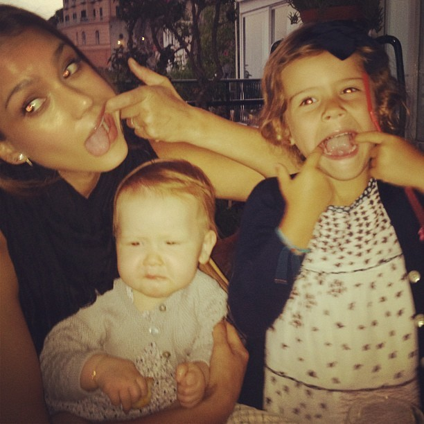 Jessica, Honor et Haven font la grimace