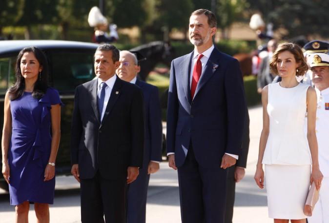 Letizia d'espagne, le roi Felipe VI et le couple présidentiel péruvien