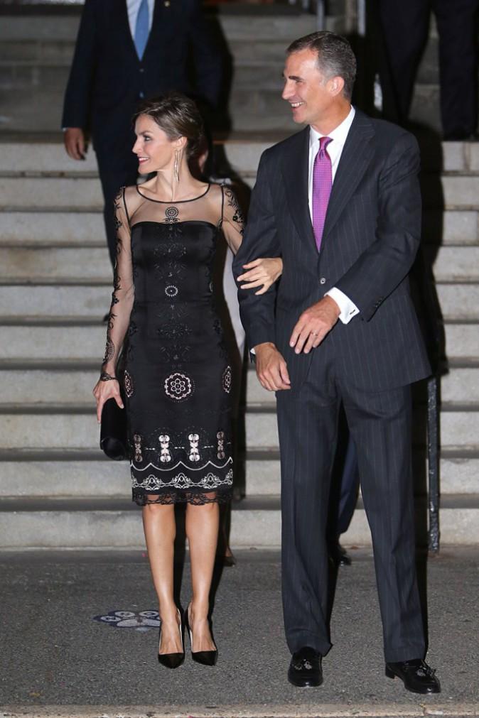 Letizia et Felipe d'Espagne à l'université Georgetown