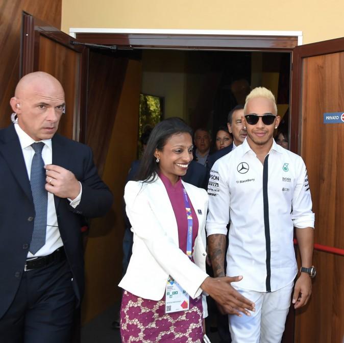 Lewis Hamilton à Milan le 7 septembre 2015
