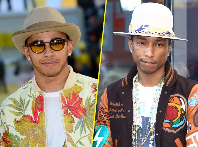 Photos : Lewis Hamilton en manque d'inspiration ? Il copie Pharrell Williams !