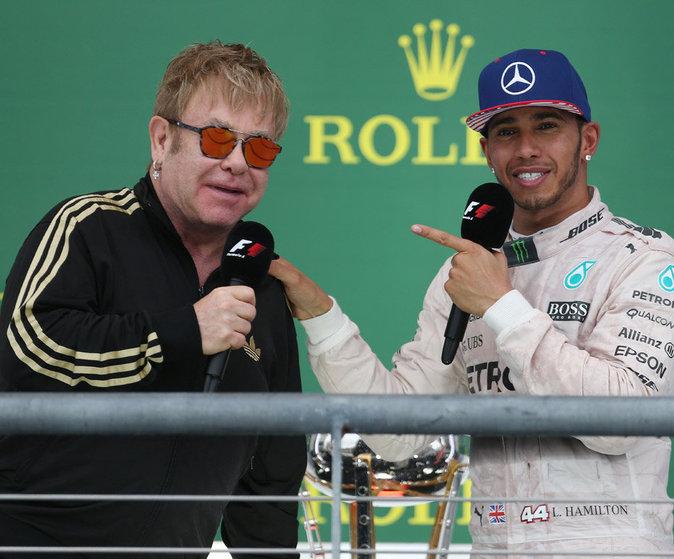 Lewis Hamilton et Elton John