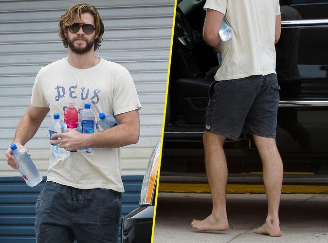 Liam Hemsworth : beau gosse en perdition, ultra-poilu et pieds nus !
