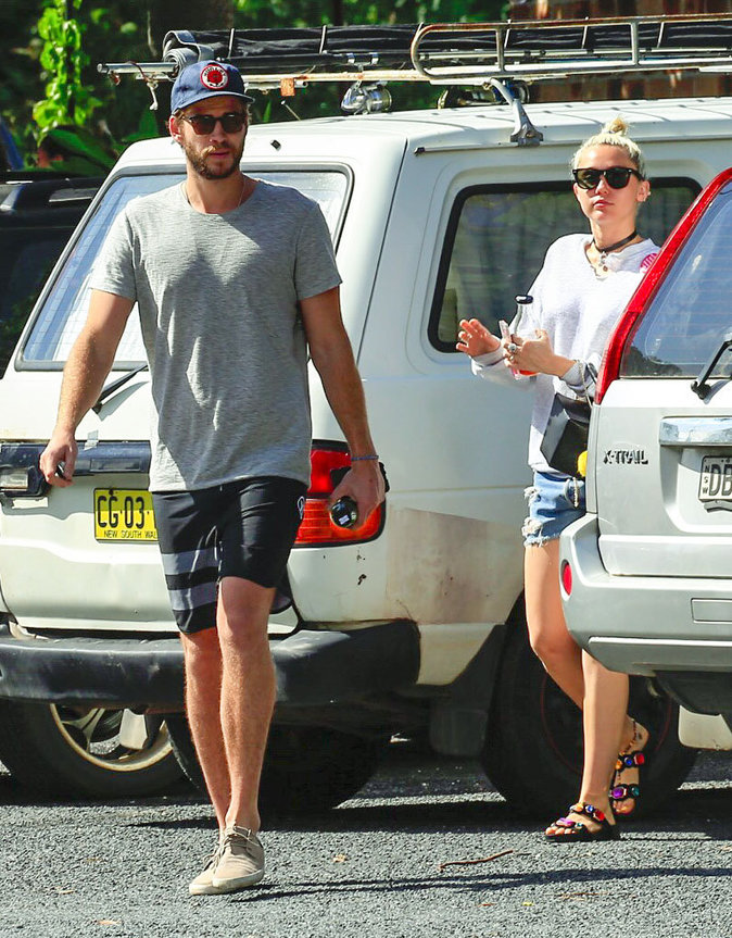 Liam Hemsworth et Miley Cyrus en vacances en Australie