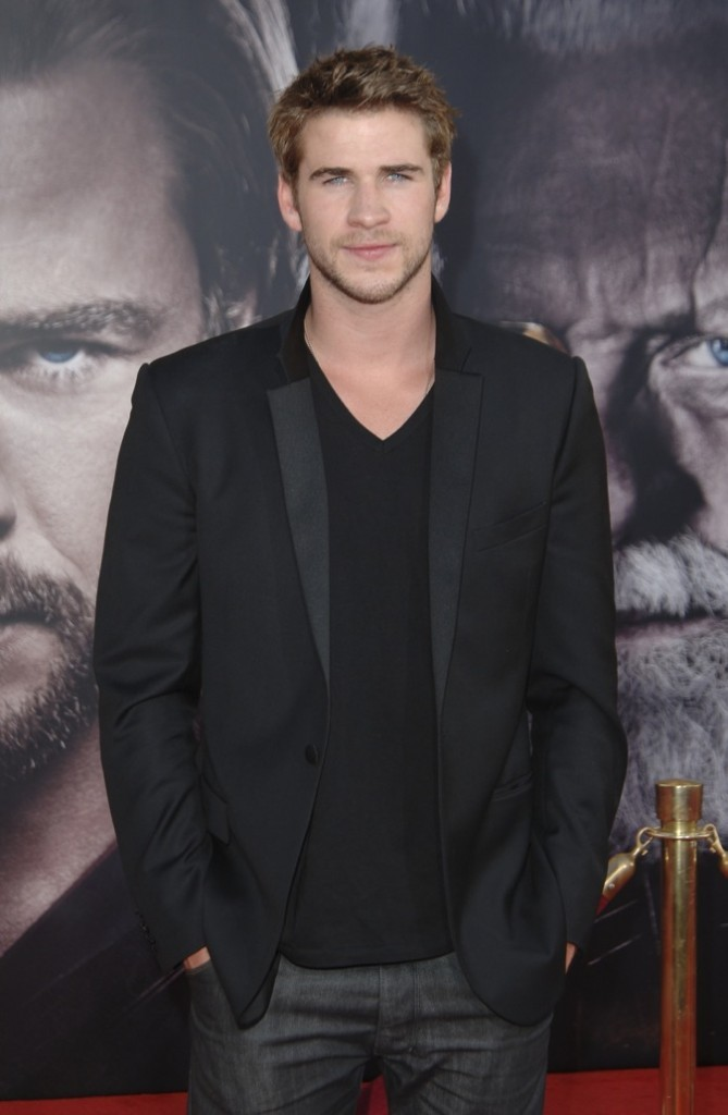 Liam Hemsworth, charmant en noir !